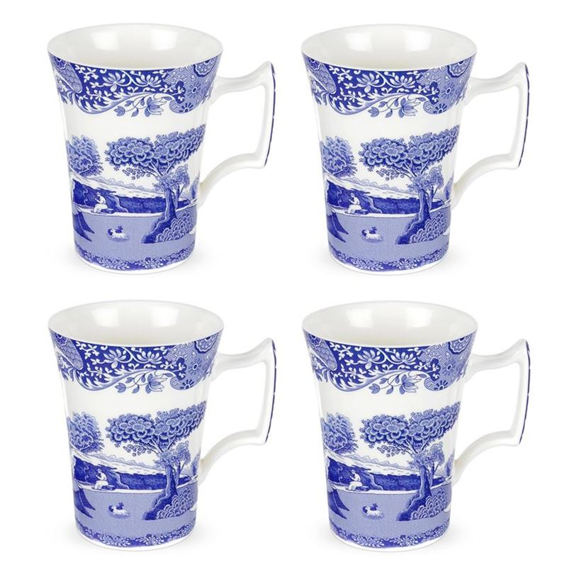 Spode – Blue Italian Cottage Mug 280ml SET OF 4 (Made in England)