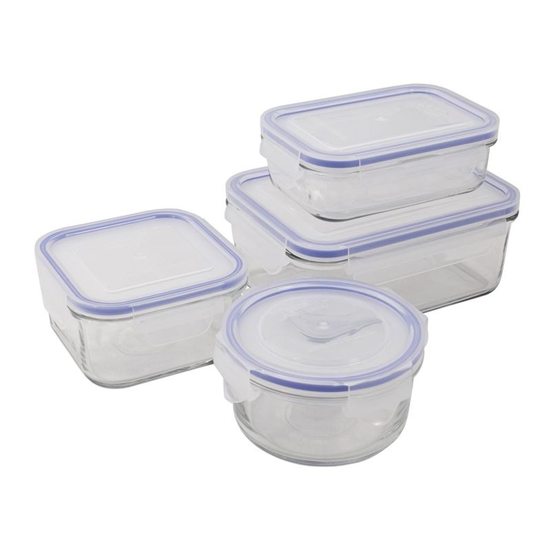 Glasslock – 4 Piece Tempered Glass Container Set