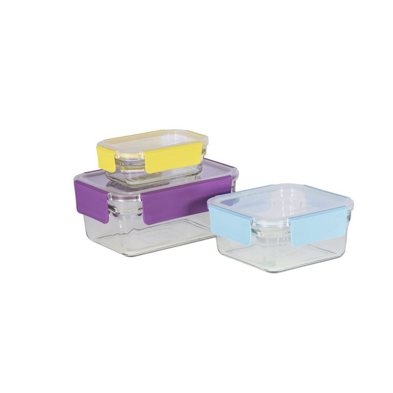 Glasslock – 3 Piece Premium OVEN SAFE Glass Container Set