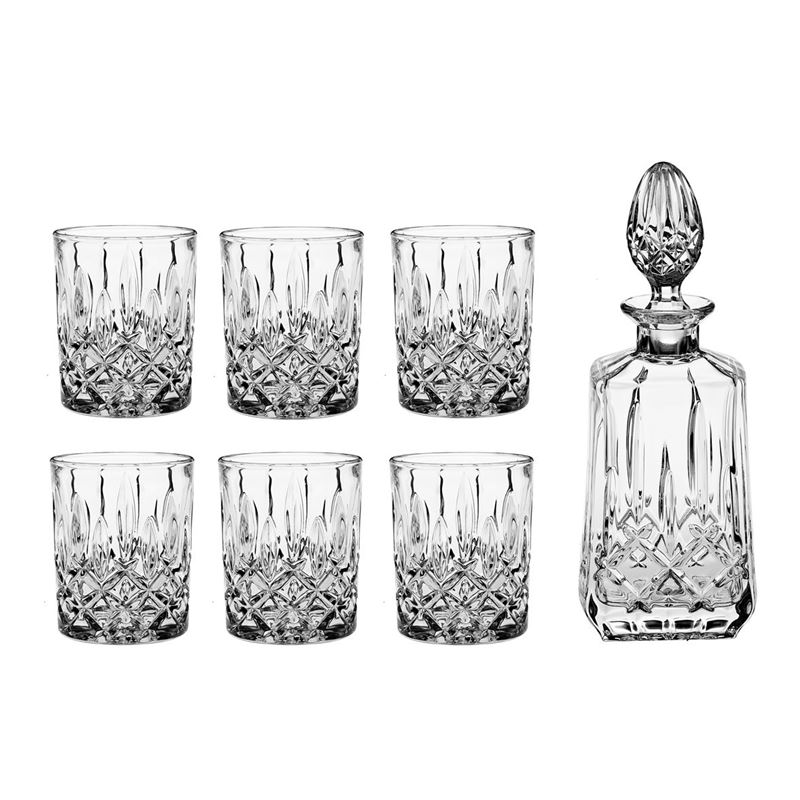 Bohemia – Sheffield Whisky Decanter and 6 x DOF Glasses (Made in the Czech Republic)