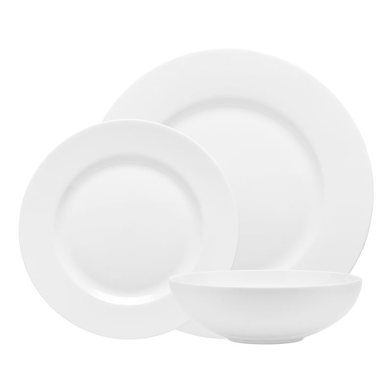Ecology – Canvas White Fine Bone China 12pc Dinner Set Rim