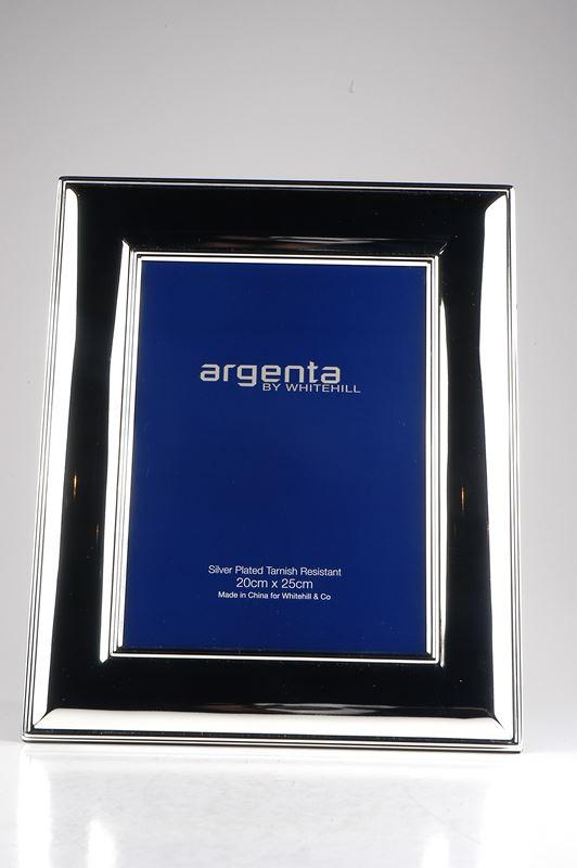 Whitehill – Argenta Silver Plated Frame Wide Plain 20x25cm