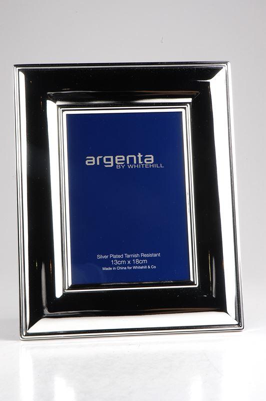 Whitehill – Argenta Silver Plated Wide Plain Frame 13x18cm