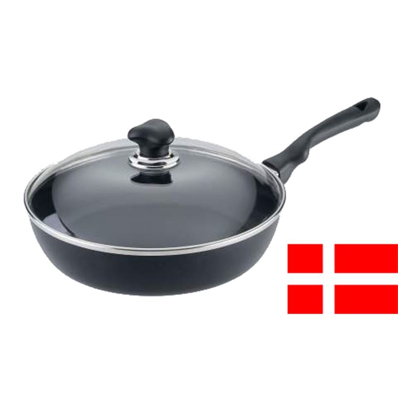 Scanpan – Ergonomic Handled Stratanium Non-Stick Saute With Lid 28cm (Made in Denmark)