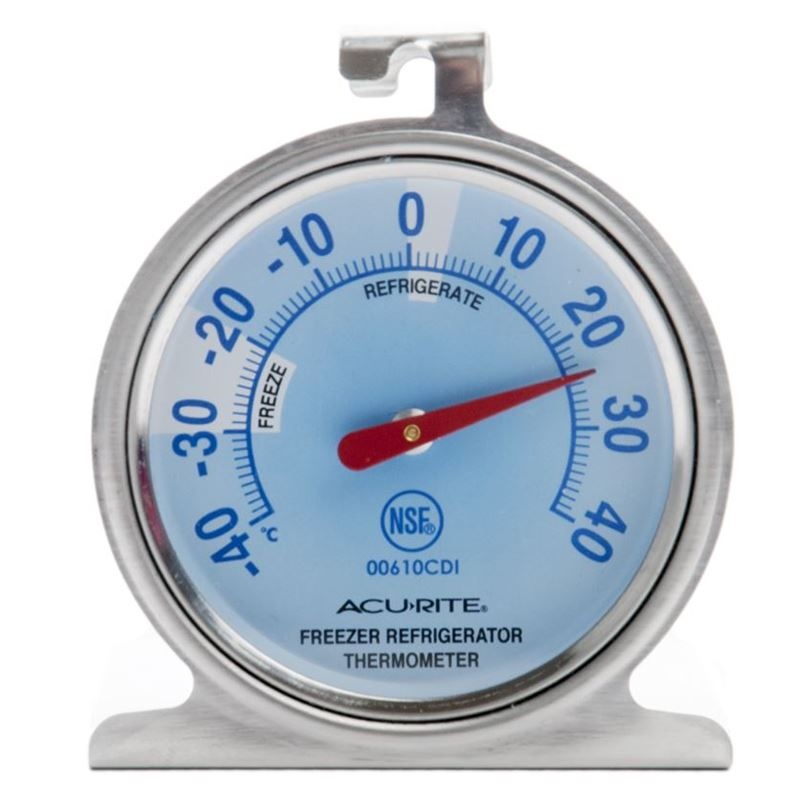 'Acu- Rite' – Refrigerator or Freezer Dial Style Thermometer