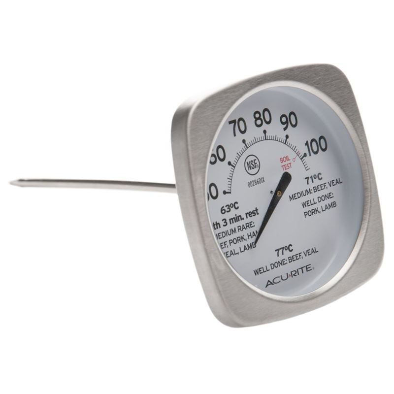 'Acu-Rite' – Stainless Steel Dial Meat Thermometer