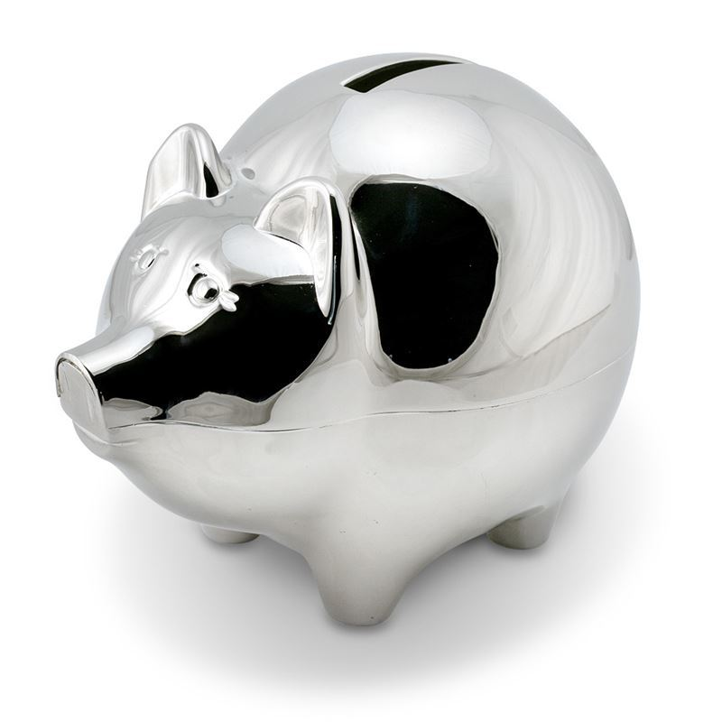 Whitehill – Silver Plated Pig Shaped Money Box