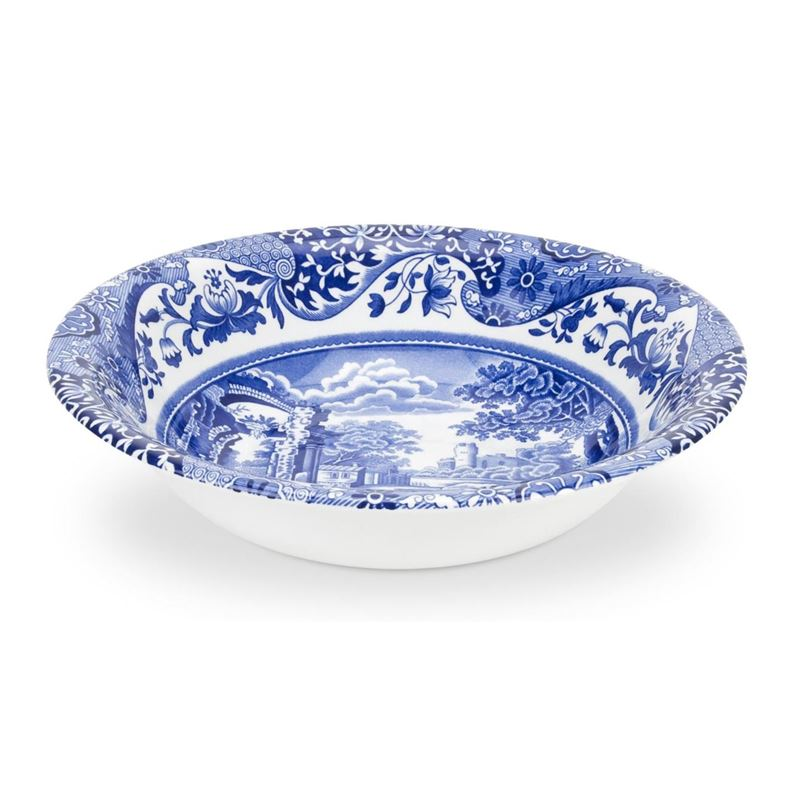 Spode – Blue Italian Oatmeal/Cereal Bowl 16cm (Made in England)