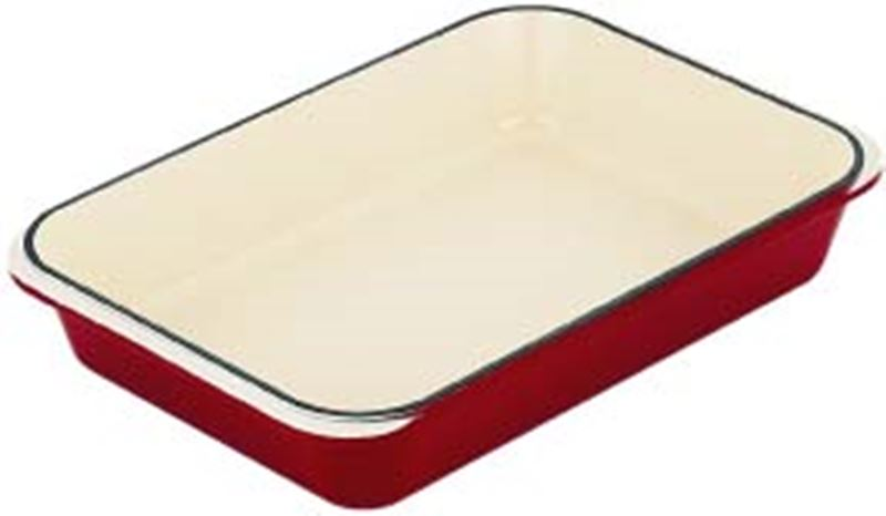 Chasseur Cast Iron – Federation Red Rectangular Roaster 40x26cm (Made in France)