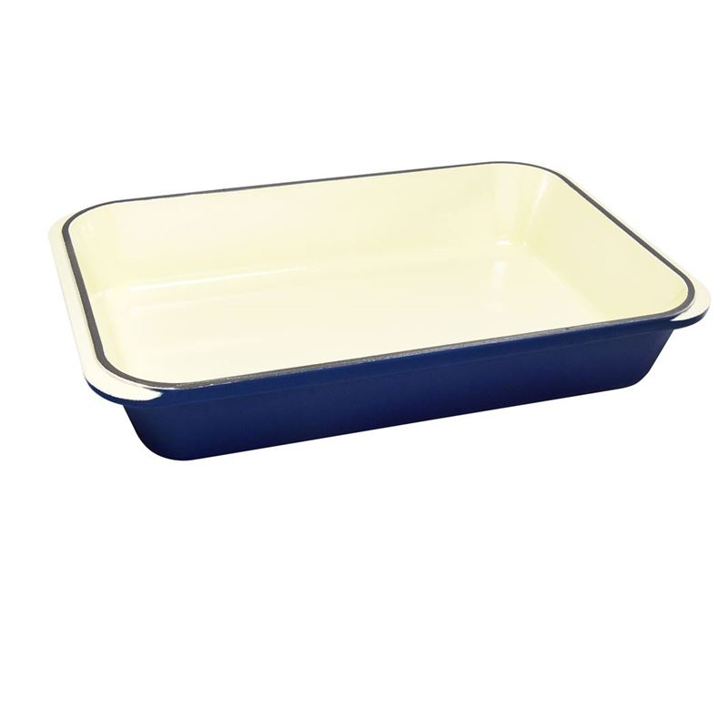 Chasseur Cast Iron – French BlueRectangular Roaster 40x26cm (Made in France)