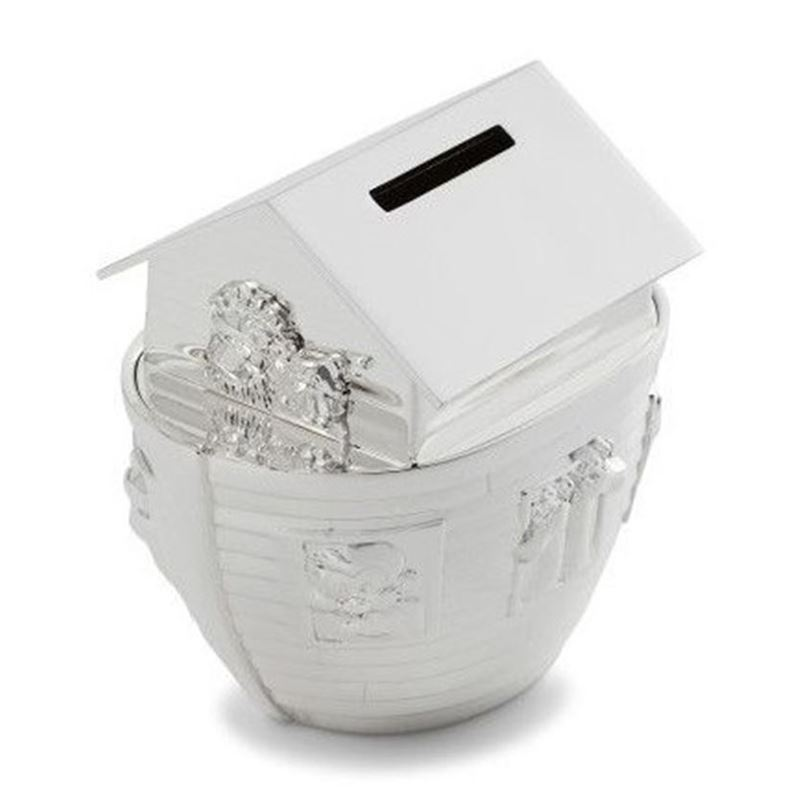 Whitehill – Silver Plated Money Box, Noah's Ark