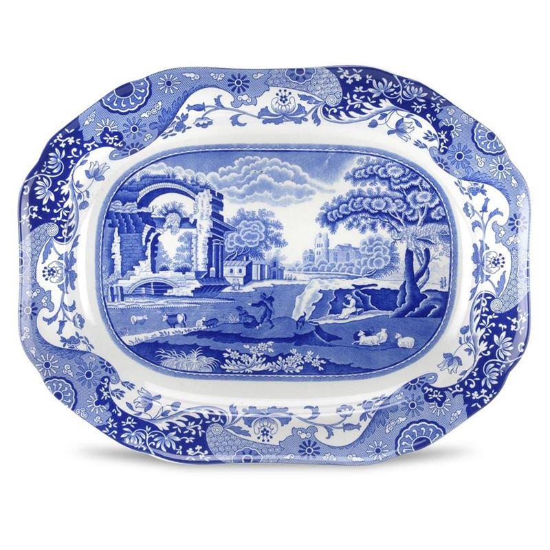 Spode – Blue Italian Oval Serving Dish  36 x 28cm