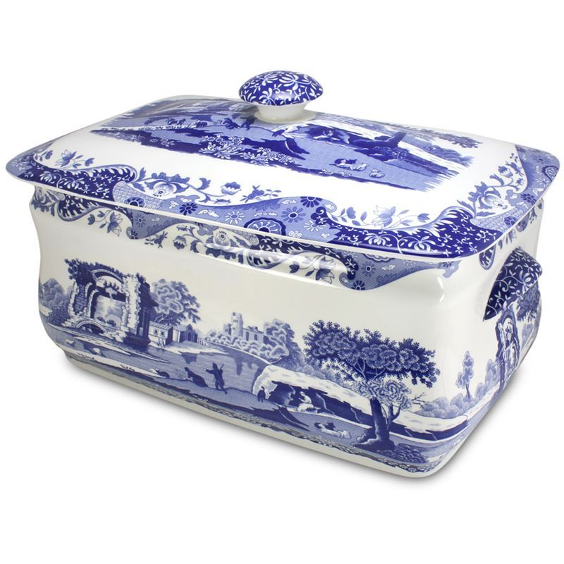 Spode – Blue Italian Bread Bin 41x56x53cm