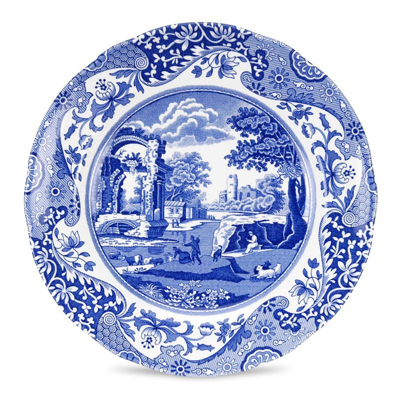 Spode – Blue Italian Entree Plate 20cm (Made in England)