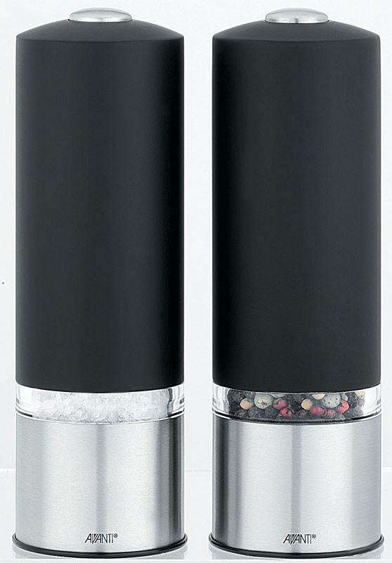 Avanti – Satin Tikka Electric Salt and Pepper Mill Set 16cm