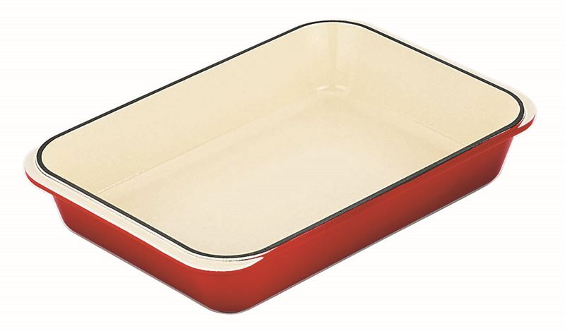 Chasseur Cast Iron – Inferno RedRectangular Roaster 40x26cm (Made in France)