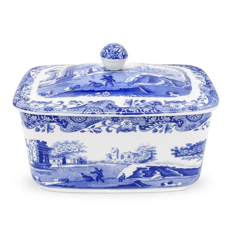 Spode – Blue Italian Covered Butter Box 16cm