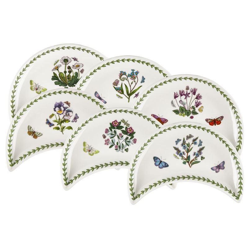 Portmeirion Botanic Garden -Crescent Dish 22x11cm Set of 6