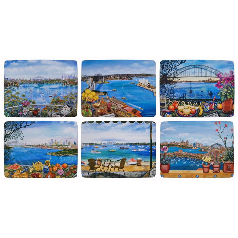 Cinnamon – Sydney Balconies by Sarina Placemats 28.5×21.5cm Set of 6