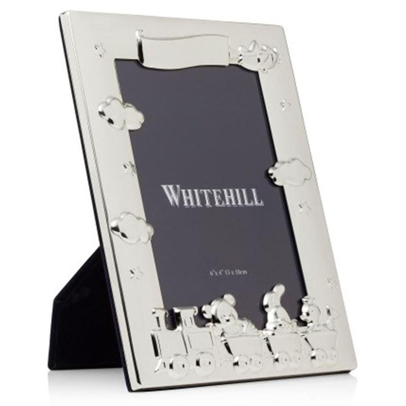 Whitehill – Silver Plated Nursery Train Frame 10x15cm