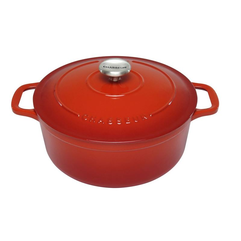 Chasseur Cast Iron – Inferno Red Round French Oven 26cm 5Ltr (Made in France)