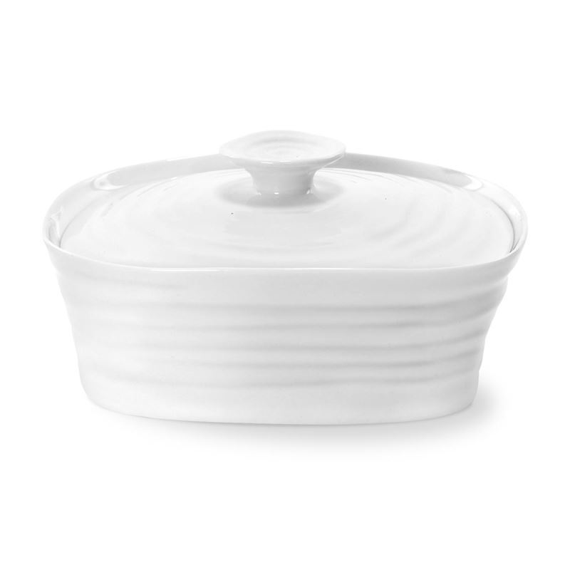 Sophie Conran for Portmeirion – Ice White Covered Butter Dish 15.5x12cm