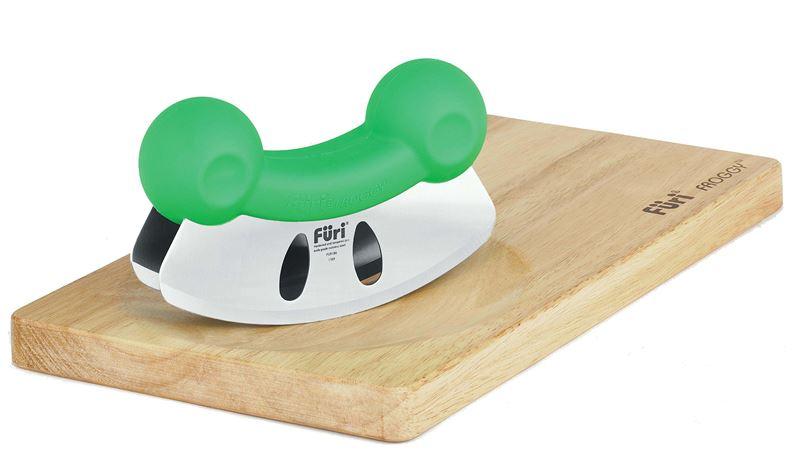 Furi – Froggy Mezzaluna with Timber Cutting Board and Anti-slip Mat