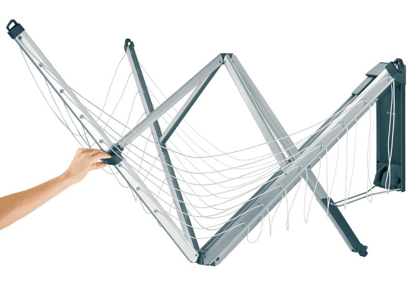 Brabantia – Wall Fix Fold-Away Clothes Line – 24m Hanging Space