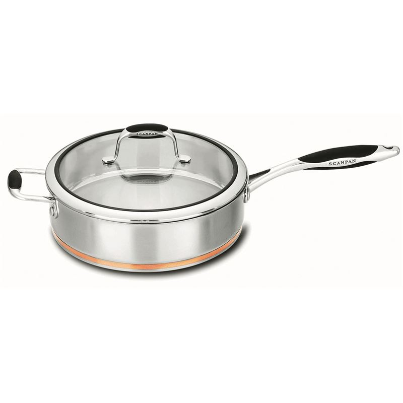 Scanpan Coppernox – Copper Based Saute Pan with Glass Lid 28cm 3.2Ltr