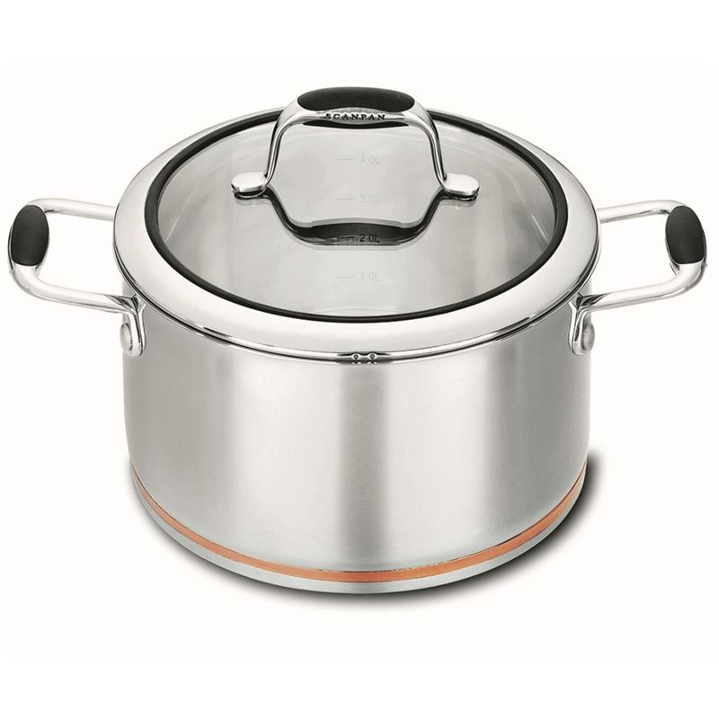 Scanpan Coppernox – Copper Based Casserole with Glass Lid 24cm 4.8Ltr