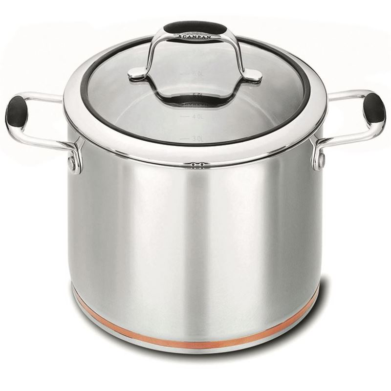 Scanpan Coppernox – Copper Based Stockpot with Glass Lid 24cm 7.2Ltr