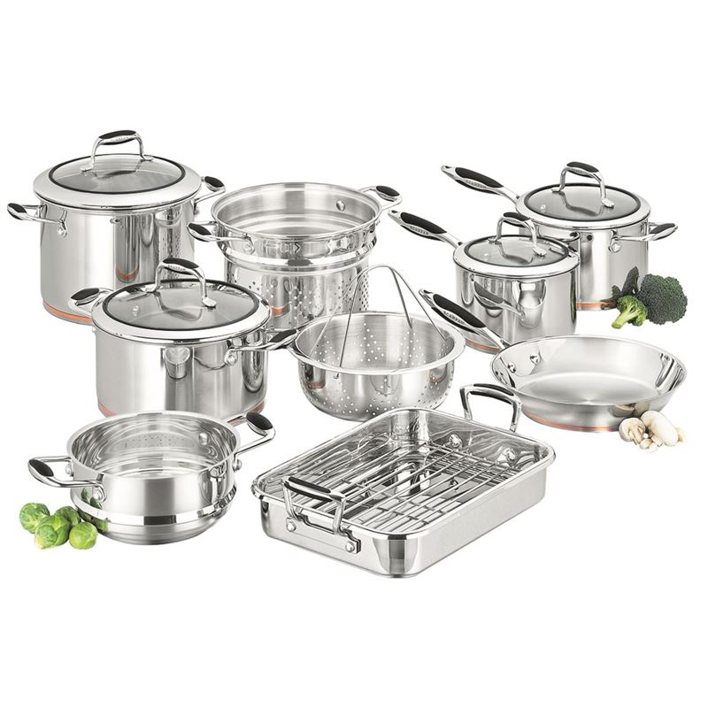Scanpan Coppernox – Copper Based 9pce 18/10 Stainless Steel Cookware set