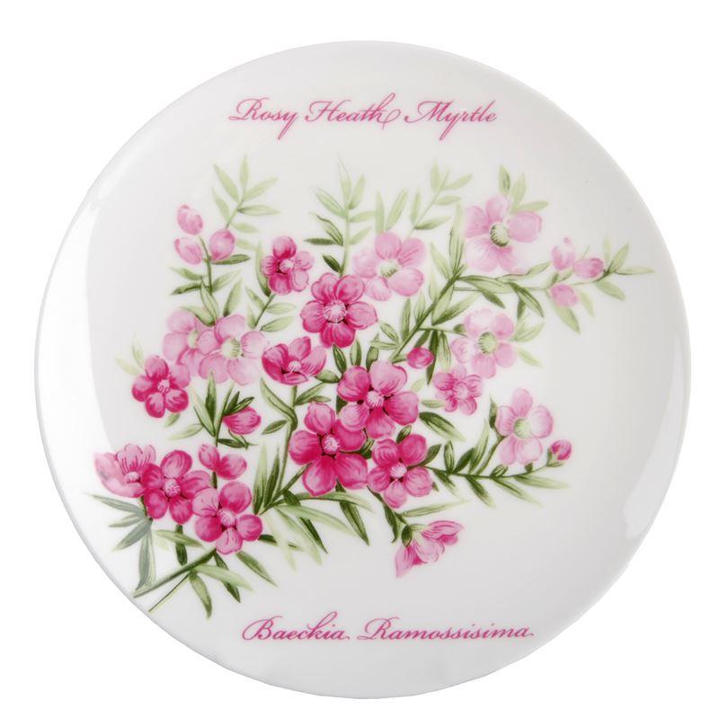 Dan Samuels Australia -Rosy Heath MyrtleFine Bone China Wall Plate 15cm