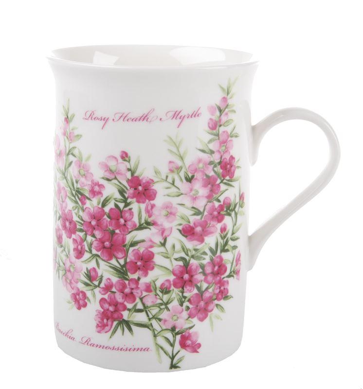 Dan Samuels Australia -Rosy Heath MyrtleFine Bone China Mug 300ml