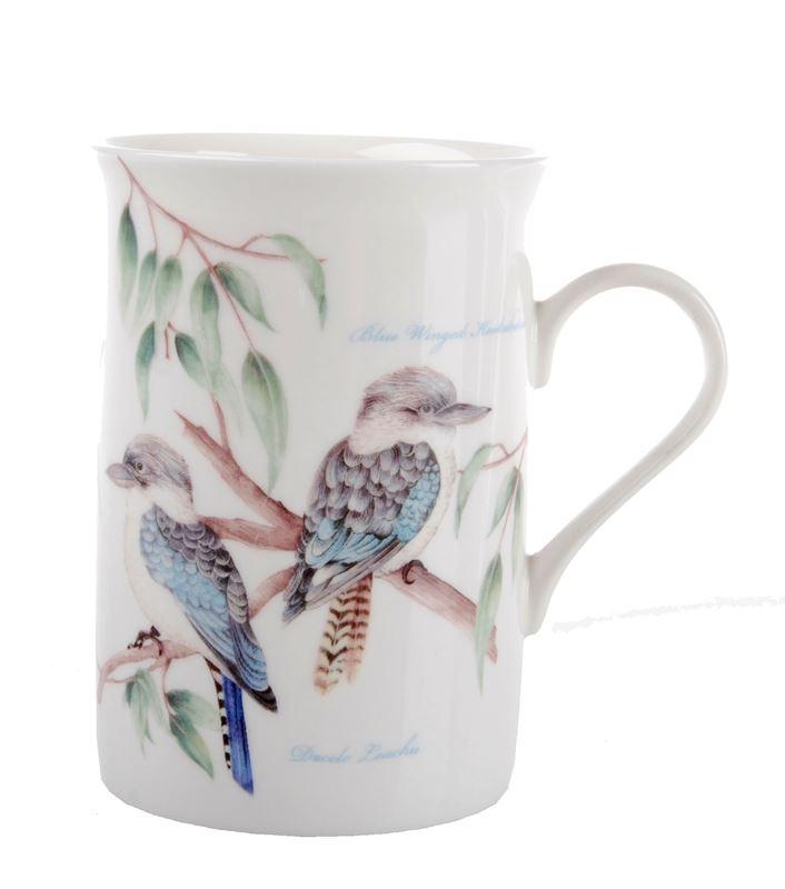 Dan Samuels Australia -Blue Winged KookaburraFine Bone China Mug 300ml