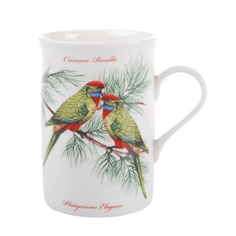 Dan Samuels Australia -Crimson Rosella (Green)Fine Bone China Mug 300ml
