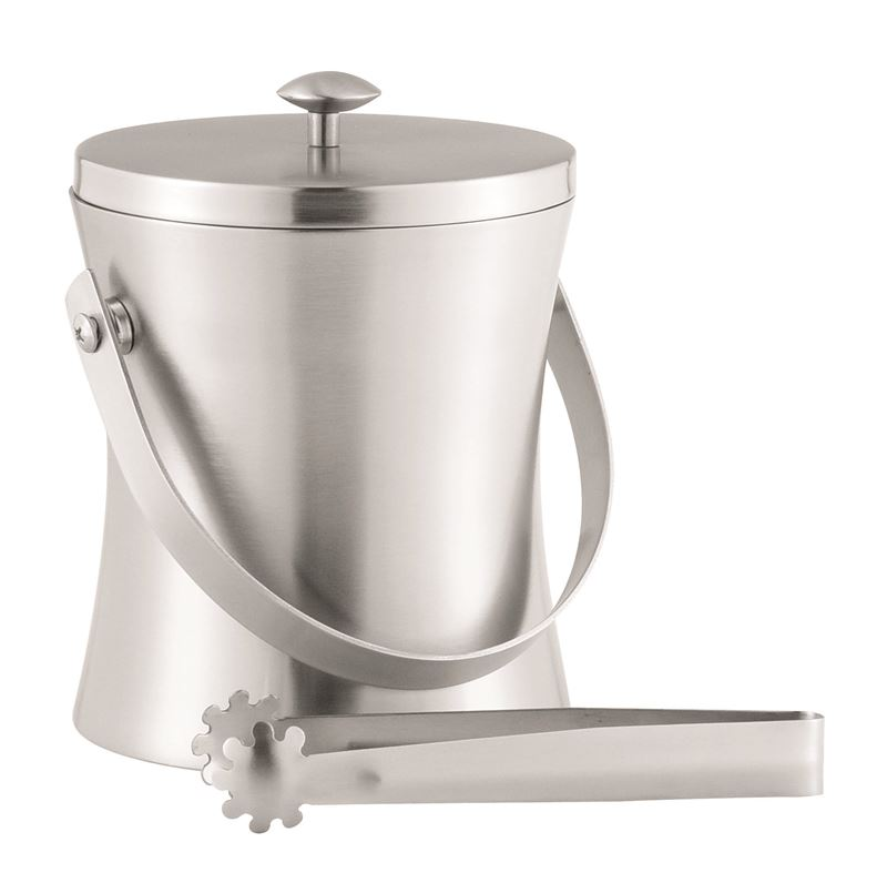 Benzer – Bar Kurve Thermo-Steel Ice Bucket with Tongs Stainless Steel