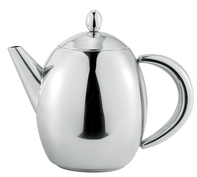 Benzer – Hotello Polished Steel Tea Pot 500ml 3 Cup