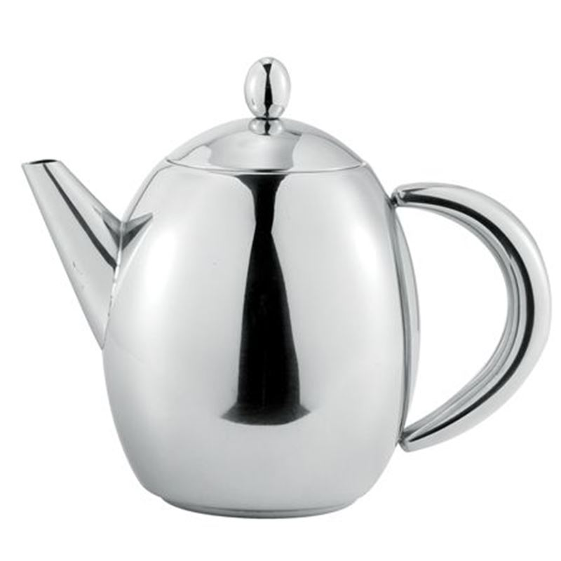 Benzer – Hotello Polished Steel Tea Pot 1Ltr 6 Cup
