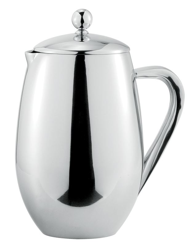Benzer – Hotello Polished Steel Double Wall Coffee Plunger 350ml 3 Cup