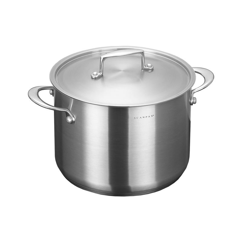 Scanpan – Satin Stockpot with Lid 24cm 7.2Ltr