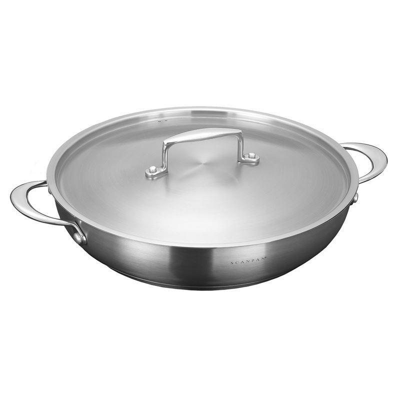 Scanpan – Satin Chef's Pan with Lid 32cm