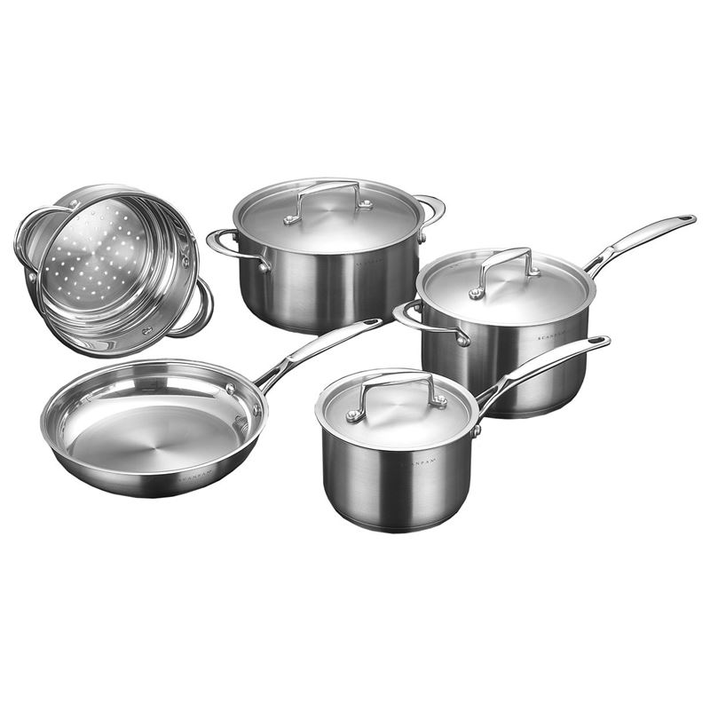 Scanpan – Satin Premium stainless Steel 5 Pce Cookware Set