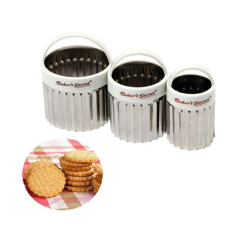 Baker's Secret –  Cookie and Scone Cutter 3pc Set