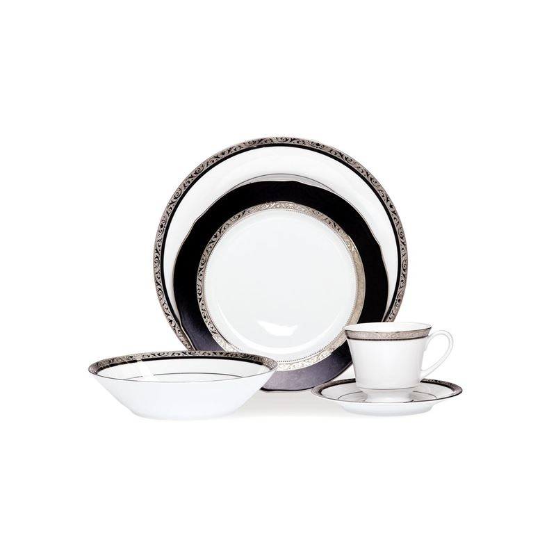 Noritake – Regent Platinum 20pc Fine China Dinner Set