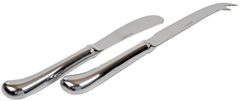 Benzer – Pistol Grip Butter and Cheese Knife Set Stainless Steel