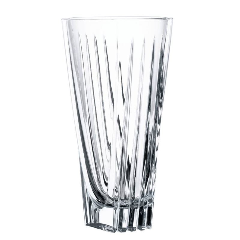 Nachtmann Crystal – Art Deco Vase 28cm (Made in Germany)