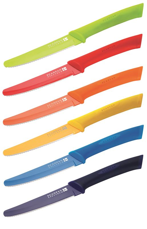 Scanpan – Soft Touch Spectrum Steak Knife Set of 6
