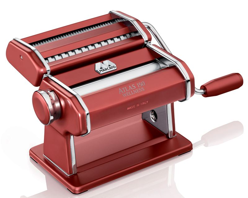 Marcato – Atlas 150 Colour Pasta Machine Red (Made in Italy)