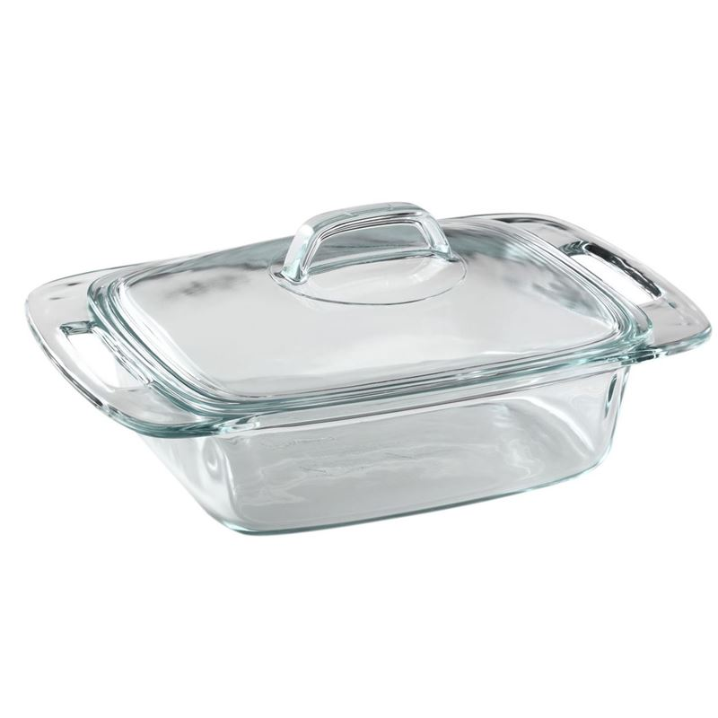 Pyrex – Easy Grab Covered Casserole 1.9Ltr 20.3×31.6×7.8cm (Made in the U.S.A)